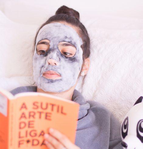 Máscara Facial Purederm Negra com Espuma O2 Vulcânica